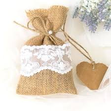 bulk burlap bags vintage rustic favor burlap bags fall lace wedding gift holders
