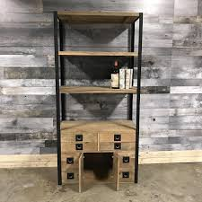 maddox rustic industrial bookcase rustic furniture outlet