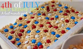 last minute 4th of july rice krispie treats simply taralynn