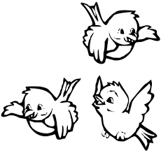 open color by numbers birds printable birds coloring pages for