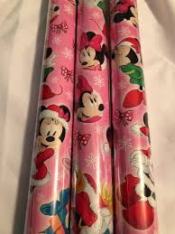 large rolls of christmas wrapping paper 4 pack disney princess minnie mouse christmas