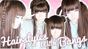 kawaii hairstyles no bangs easy hairstyles for bangs sammiespeaks youtube