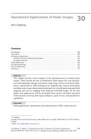 operational applications of radar images springer