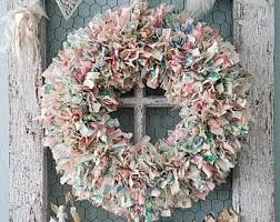 fabric wreath etsy
