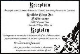 wedding registry on invitation wedding invitation wording registry yaseen for
