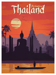 Oklahoma travel posters images Vintage thailand poster vintage travel vintage and travel posters png
