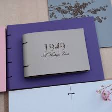 leather memory book personalised vintage year leather memory book album by artbox
