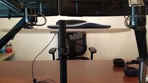 monitor and keyboard arm desk mount diy sit stand desk juan treminio dallas based senior web developer
