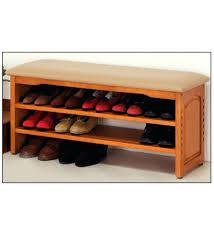 wood shoe rack storage bench ottoman diy plans wooden