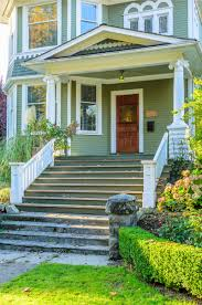front entrance steps to houses