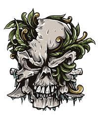 vector skull speed drawing tutorial freebie crazyleaf design