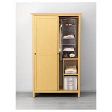 hemnes wardrobe with 2 sliding doors yellow ikea