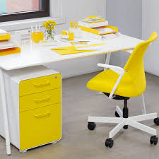 White Desk Accessories by Yellow Poppin Desk Accessories File Cabinet 5th Avenue Chair