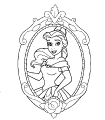 disney princesses belle coloring pages coloringstar