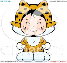 jaguar costume royalty free rf clipart illustration of a cute asian in a