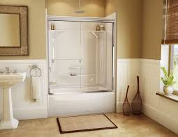 Wainscoting Bathroom Ideas by Bed U0026 Bath Interesting Walk In Bathtub Shower Combo With Glass
