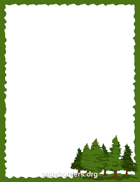 pine clipart border pencil and in color pine clipart border
