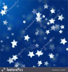 Blue Flag White Star White Stars In Blue With Feather Lights Stock Illustration