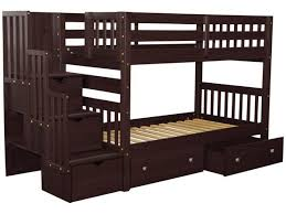 2 Bunk Beds Bunk Beds Stairway Cappuccino 2 Drawers 659