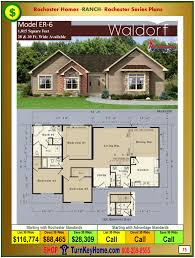 House Building Plans And Prices by Waldorf Rochester Modular Home Model Er6 Ranch Plan Price