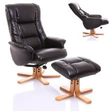 the shanghai bonded leather recliner swivel chair u0026 matching