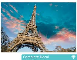 eiffel tower wall mural your decal shop nz designer wall art eiffel tower wall mural