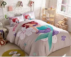 Girls Bedding Sets Queen by The Little Mermaid Duvet Cover Set Queen Size 2 Pillow Case 1 Flat