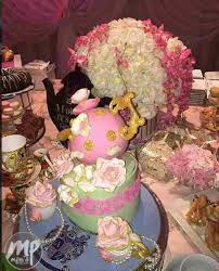 tea party themed bridal shower see pictures from zahra buhari s tea party themed bridal shower