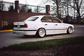 bmw m5 slammed 1992 bmw e34 525i white goes with everything autoevolution