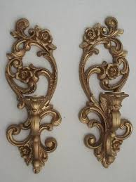 Candle Holder Wall Sconces Gold Wall Sconces Vintage Homco Candle Holders Wall Plaques
