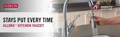 delta allora kitchen faucet delta faucet 989 ar dst allora single handle pull kitchen