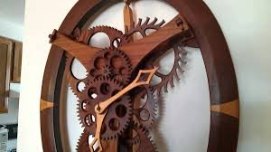 wooden gear clock 8lb movement handmade oval clock by a lawyer and