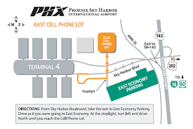 Chicago O Hare Parking Map by Cell Phone Lot East Parking In Sky Harbor