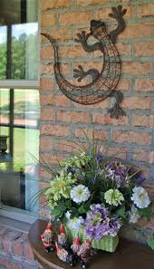 brilliant outdoor garden decor for walls patio brick wall large