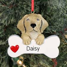 yellow lab ornament with name giftsforyounow