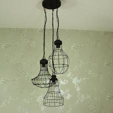 Wiring A Ceiling Light Uk Industrial Wire Triple Pendant Ceiling Light Melody Maison