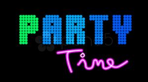 neon party retro neon party loop alpha hd 4k stock footage 606863