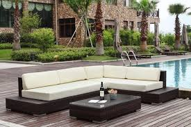 canape jardin resine canapé de jardin avec angle résine tressée modulable 5 places