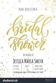 Bridal Shower Invitations Cards Bridal Shower Invitation Card Template Classic Stock Vector