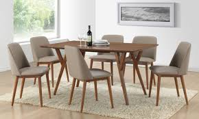 Mid Century Modern Fabric Reproductions Mid Century Modern Dining Set Table And Chairs Mid Century
