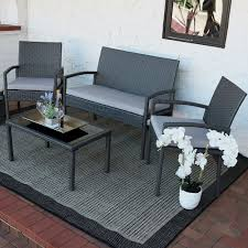 livingroom table ls sunnydaze pompeii 4 lounger patio furniture set with grey