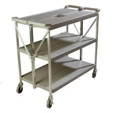 Home Depot Cart by Carlisle 350 Lb Grey Large Fold U0027n Go Heavy Duty 3 Tier