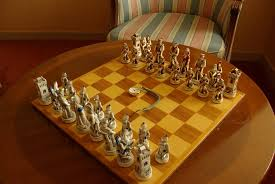 chess free stock photo an ornamental chess set with a pocket