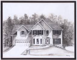 house drawings by pamir turkish paintings house drawings
