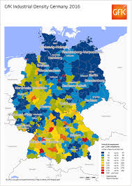 map germany and map of the month industrial density germany gfk global