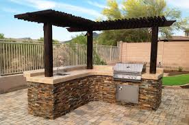 Outdoor Patio Grill Island Built In Grill Phoenix Patio Features Desert Crest Press