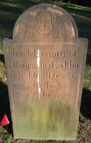 headstones nj uzal ward gravestone of denman 1791 new jersey