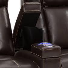 home theater seats seatcraft sierra leather power recline power headrest home