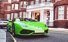 Lamborghini Huracan Green - lamborghini huracan in green lime color stock photo zoomdslr