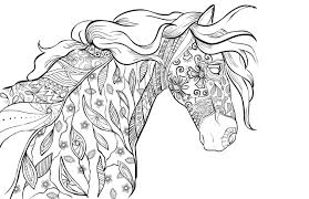 coloring page horse coloring pages for adults coloring page and